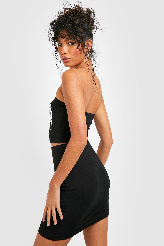 Skirt Co ord Halloween Hands Bandeau black Skeleton wq4qfOg