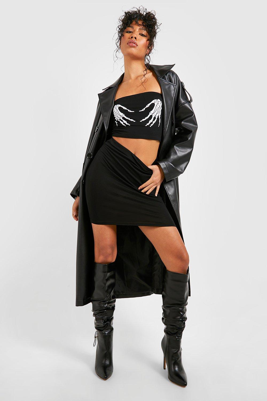 Skeleton black Skirt Halloween Co Bandeau ord Hands Zd1dnBwYv
