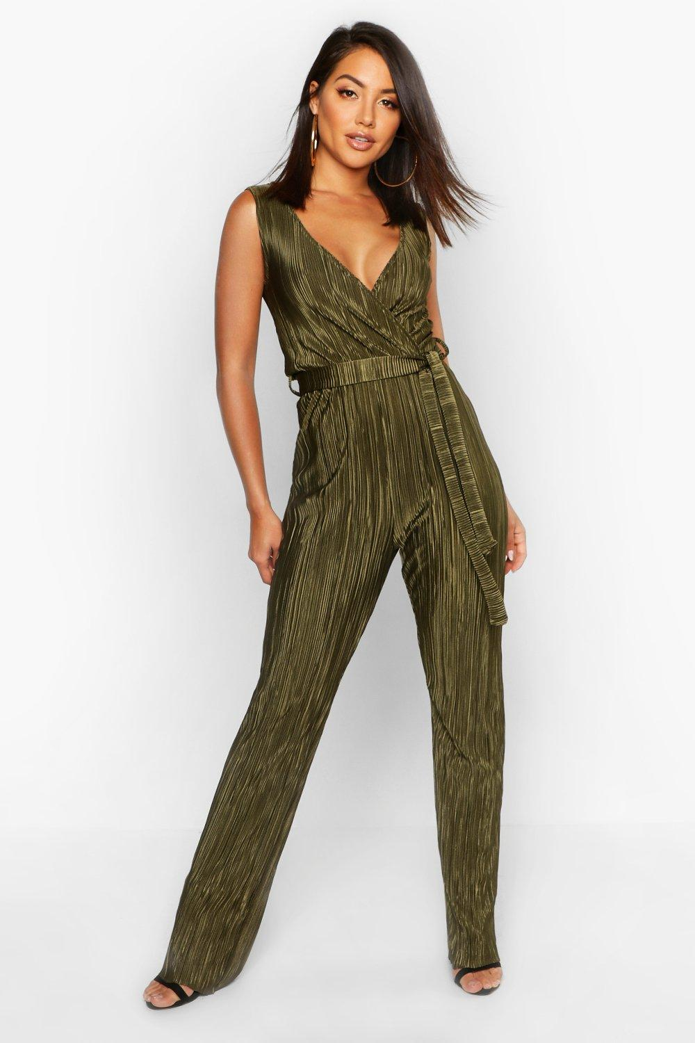 42bf6a79ba67 Plisse Plunge Jumpsuit. Hover to zoom