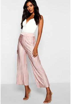 Womens Rose Pleated Culotte