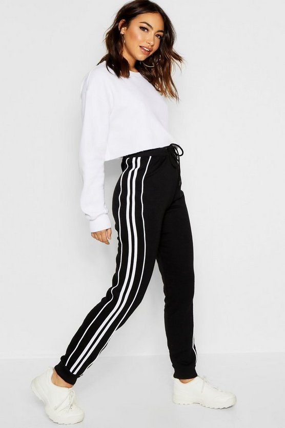 Black Side Stripe Sweat Jogger