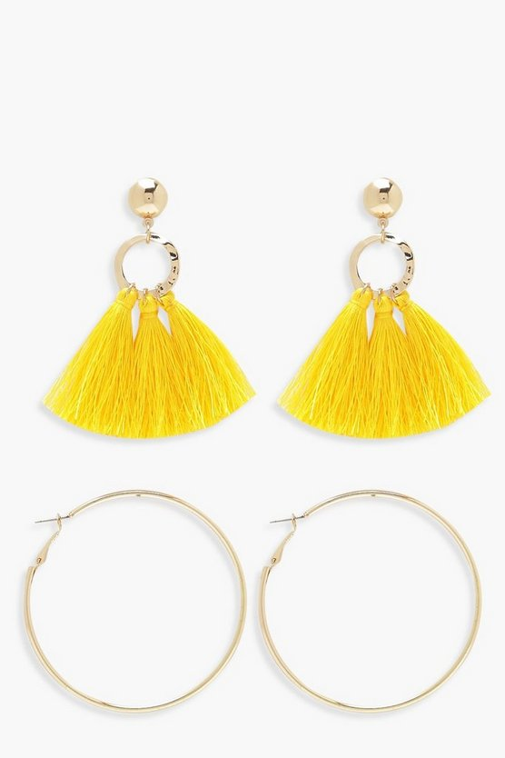 Tassel And Hoop Earring Pack