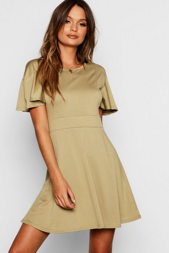 Angel Sleeve Skater Dress
