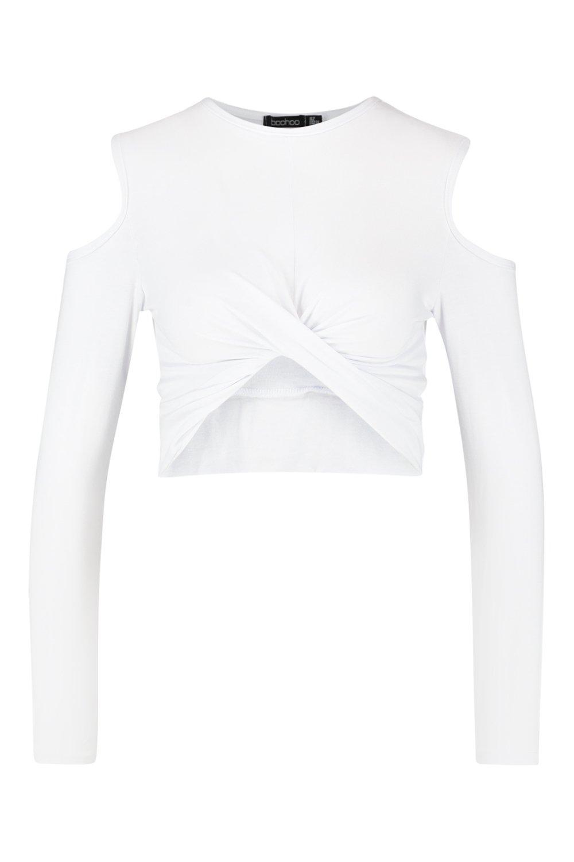 Shoulder Cold Front Twist Top white d4T4xra