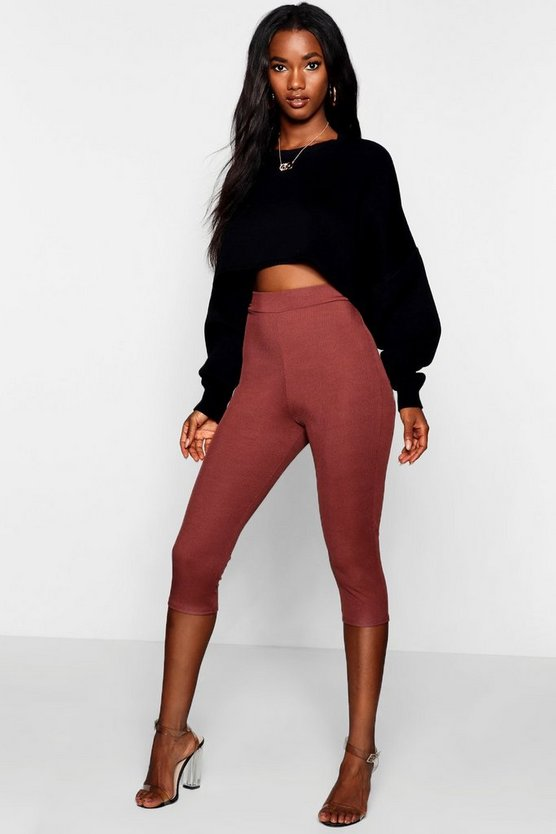 Ribbed Cropped Leggings