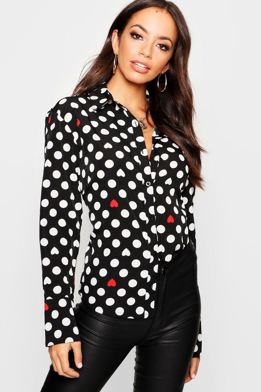 Heart + Spot Print Shirt