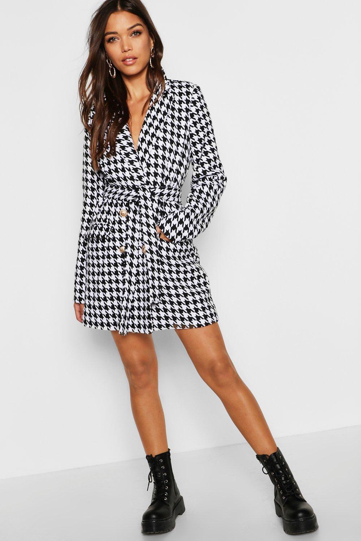 ca89fa14b6f3 Womens Black Heavy Tweed Effect Tailored Blazer Dress. Hover to zoom