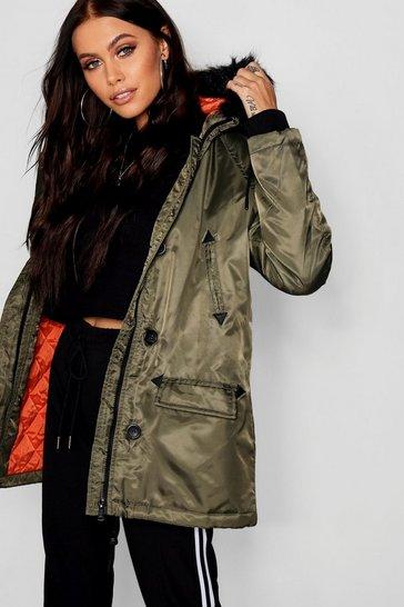 555bdb5f0 Parka Coats | Womens Parka Jackets | boohoo UK