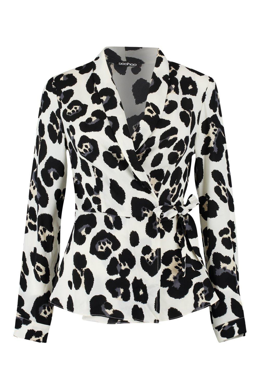 Wrap Shirt Leopard Wrap Leopard ivory Uqvtg5w
