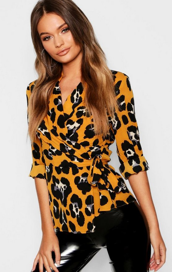 Wrap Leopard Shirt