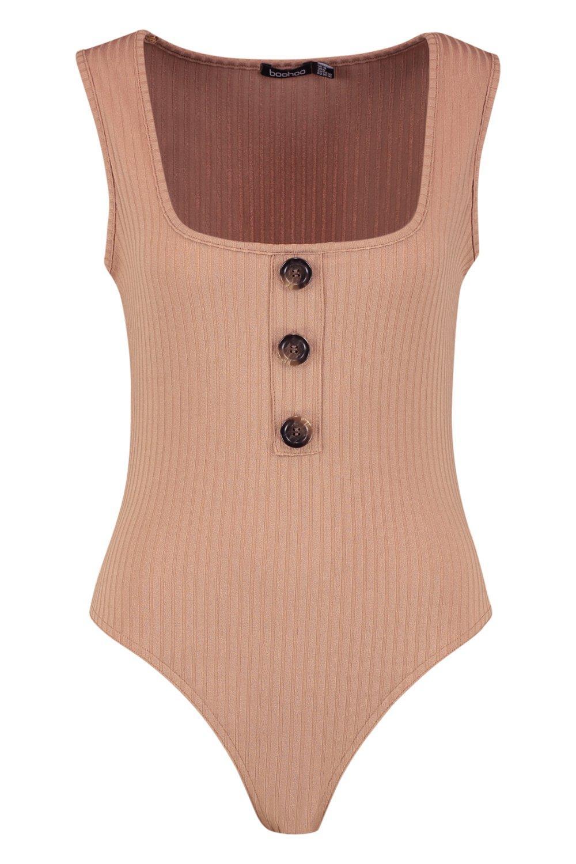 Sleeveless Jumbo Rib Bodysuit Bodysuit camel Sleeveless Jumbo Rib TZw488XUq