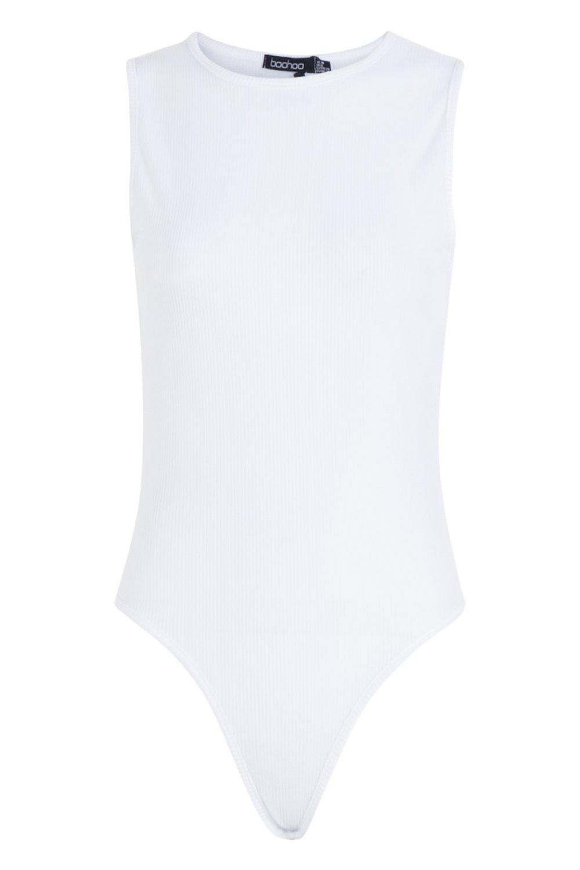 Bodysuit Bodysuit Neck Crew Sleeveless Crew Sleeveless white Neck white fS5AwB05q