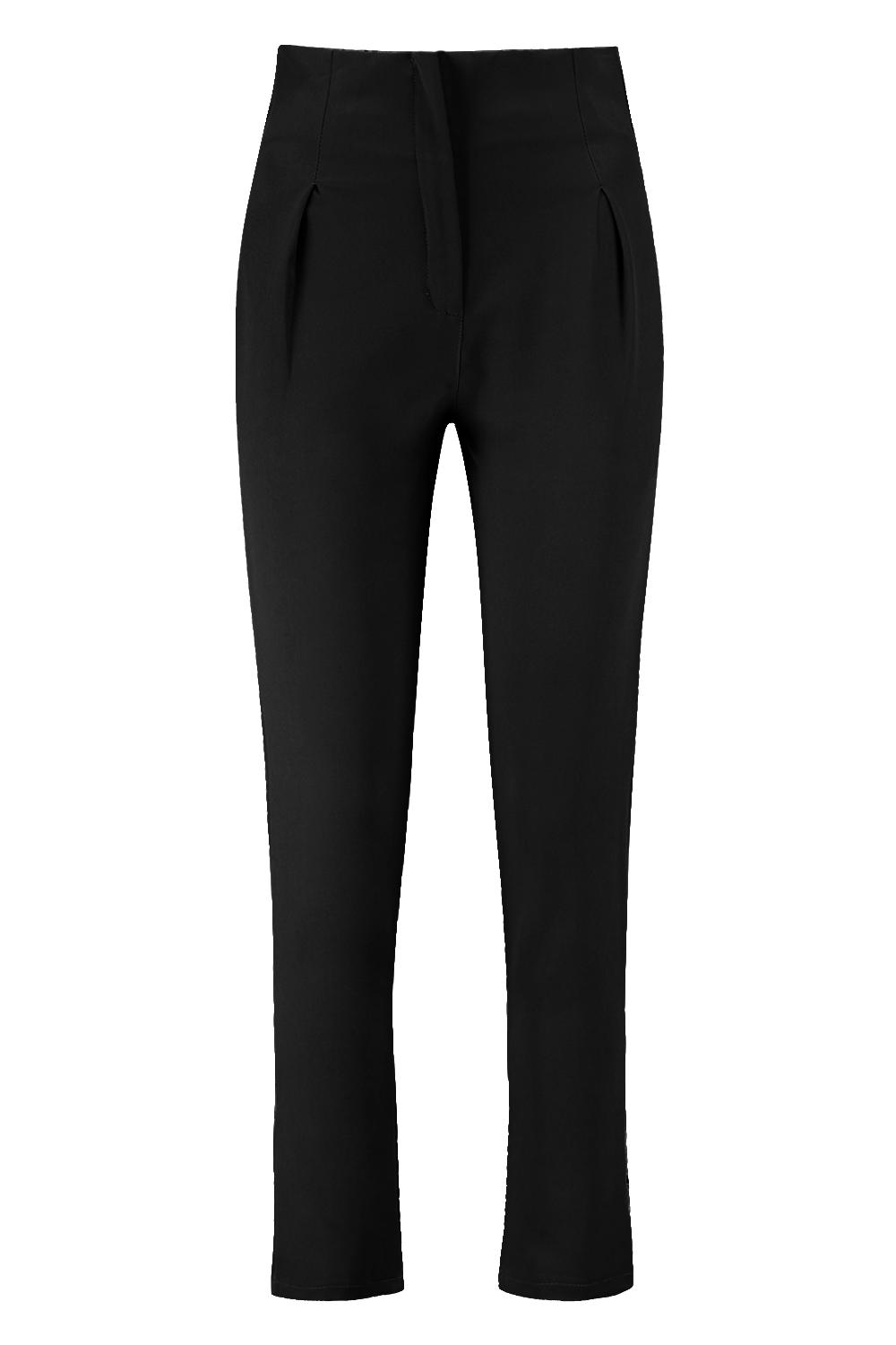 Tapered Trouser Woven black Trouser Tapered Pleated Pleated Woven da8nOqdTw