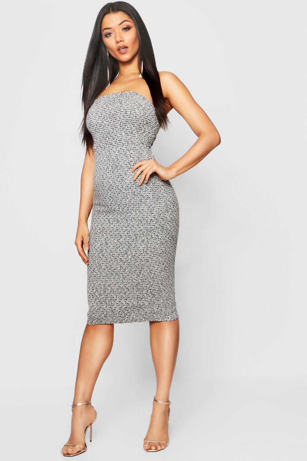 Dress Jacquard Bandeau Midi Dress Bandeau Jacquard Midi 1OxfPq