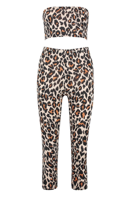 Co Bandeau ord brown Leopard Halloween Trouser tzwggq