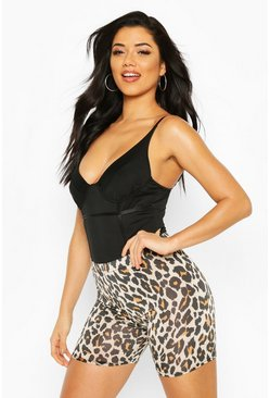 Halloween Leopard Cycling Short, Brown, FEMMES