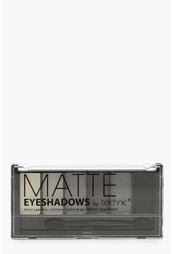 Womens Black Technic Halloween Matte Eyeshadow Palette