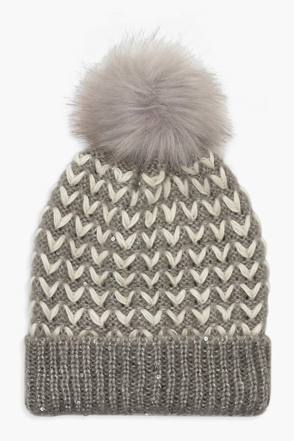 ... Cable Faux Fur Pom Beanie. Hover to zoom 61f471bb1e7