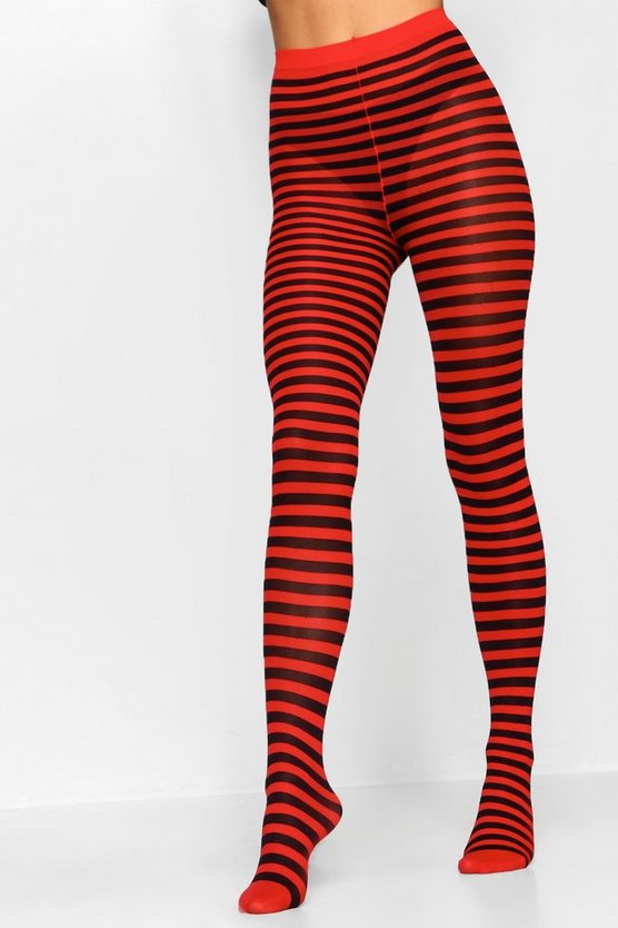 Halloween Striped Witch Tights