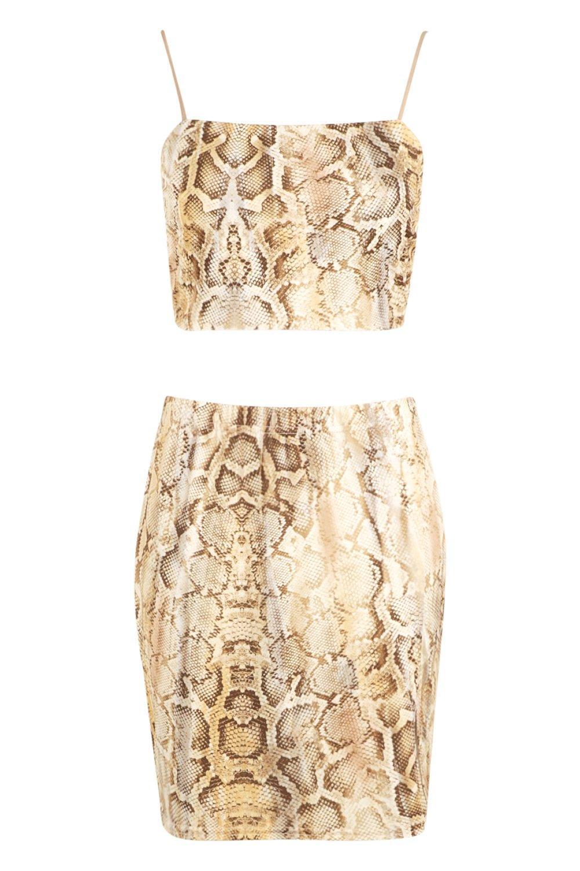 Skirt Co Snake Front Split Ord Print wq66TaU