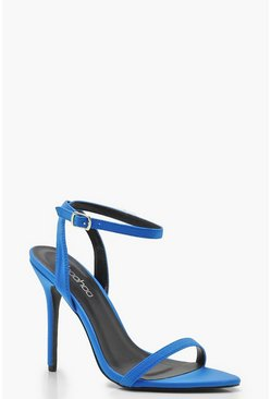Womens Blue Pointed Toe Two Part Heels