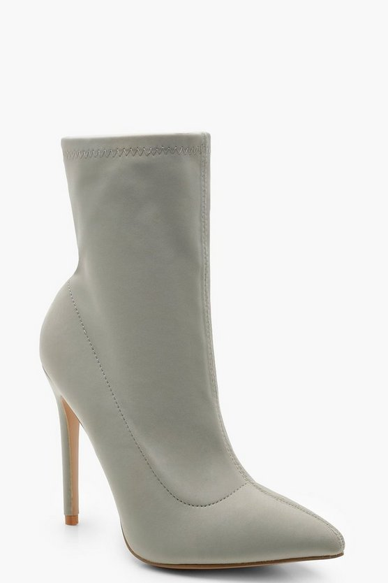 Womens Sage Pointed Toe Stiletto Sock Boots