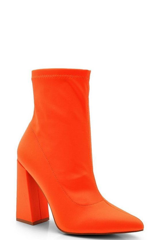 Pointed Toe Block Heel Boots