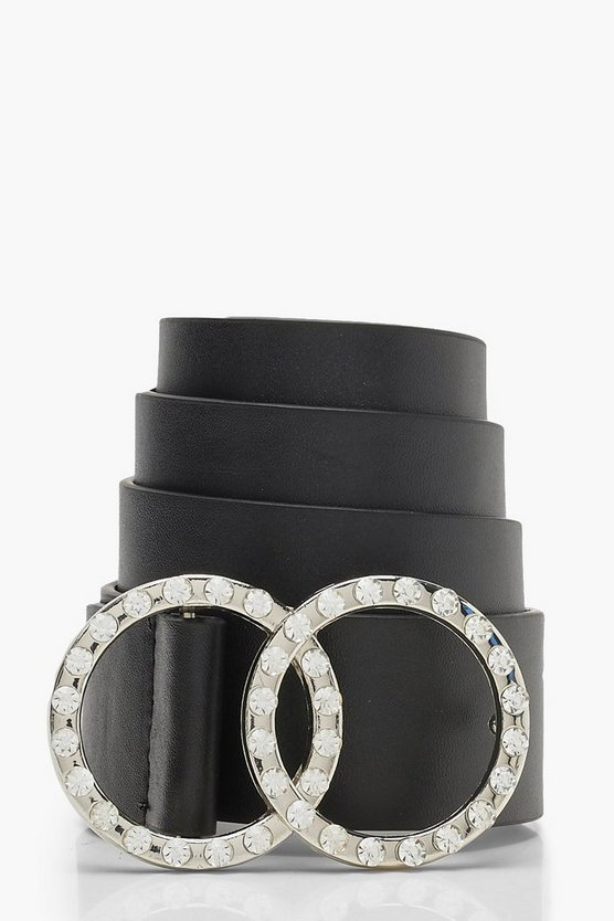 Double Ring Diamante Belt