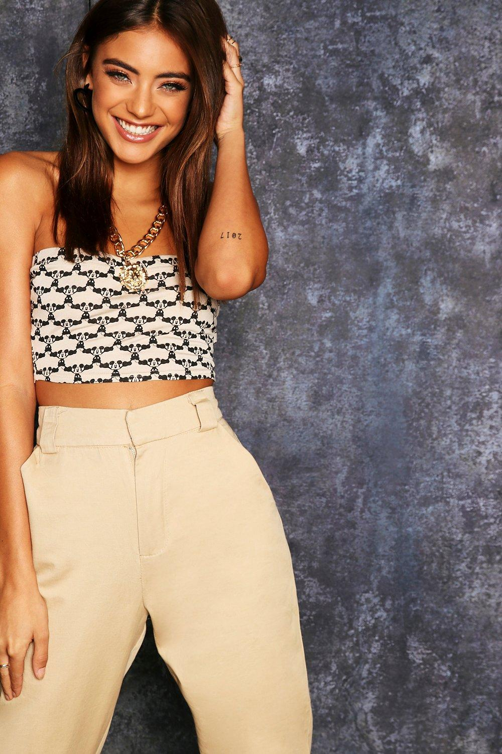 Graphic Bandeau Micky Disney Top taupe Repeat n0EzAqwRq