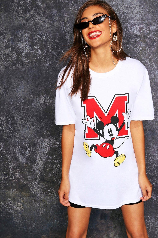 Graphic black Oversized Shirt T Disney Mickey ZxHq6na