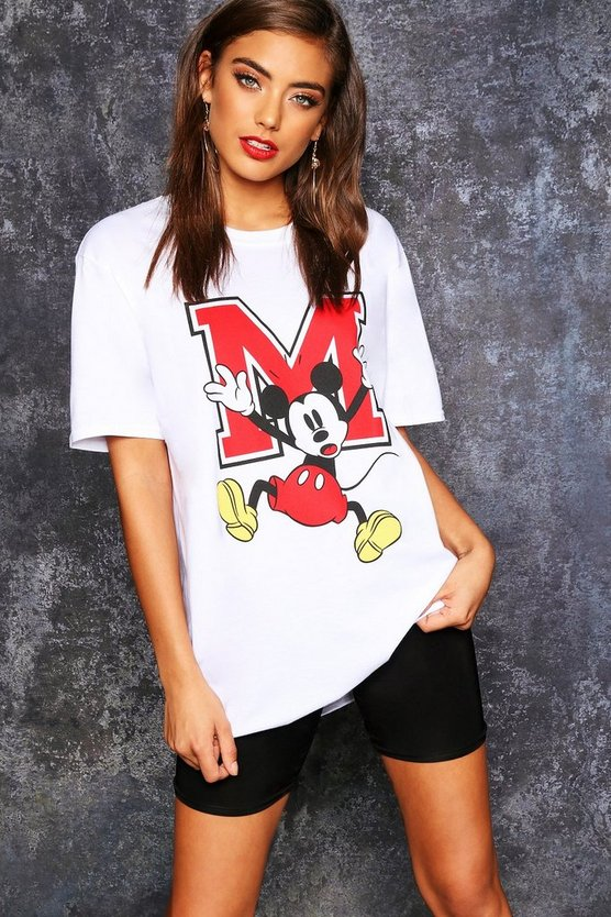 Disney Mickey Oversized Graphic T Shirt