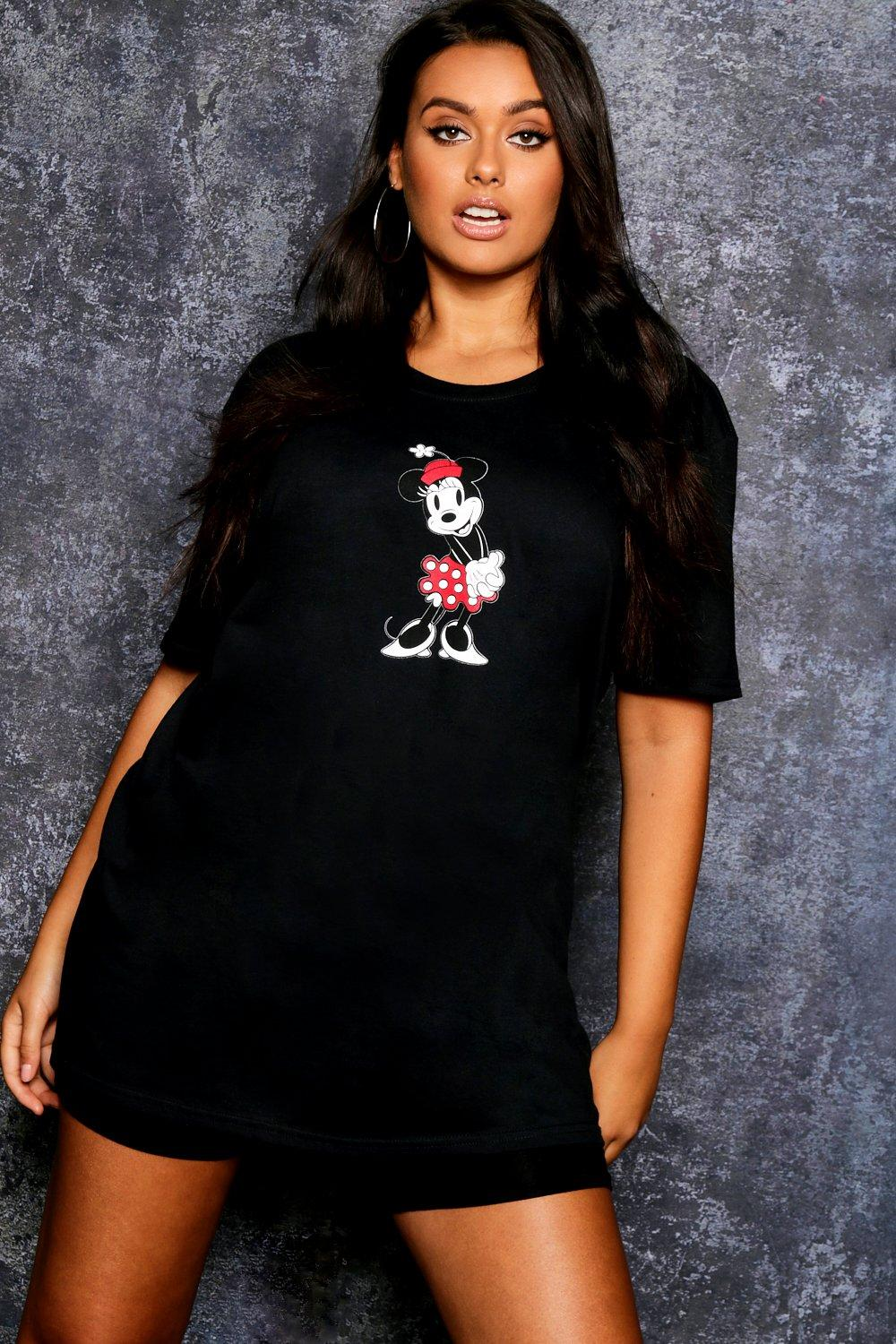 black Oversized Minnie T Graphic Disney Shirt 7Spqzfgwx