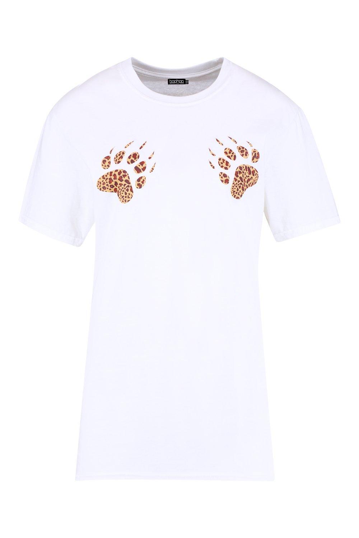 white Paw T Leopard Halloween Print Shirt fPvvqw