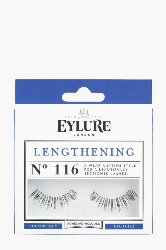 Eylure Lengthening False Lashes - 116, Black, Donna
