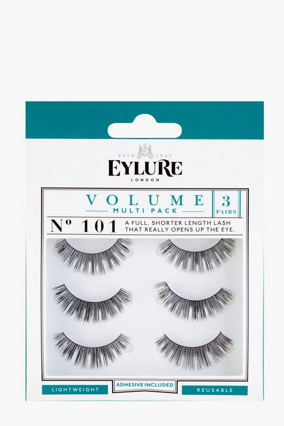 Womens Black Eylure Volume False Lashes - 101 Multipack