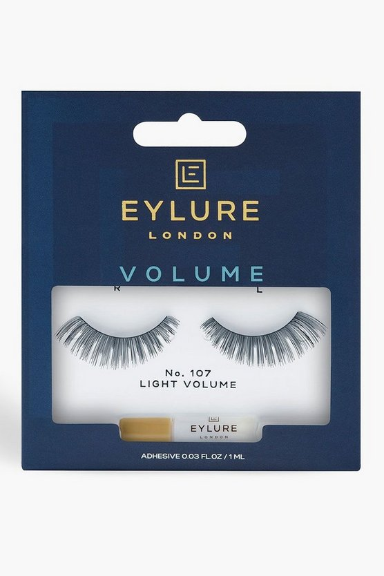 Womens Black Eylure Volume False Lashes - 107