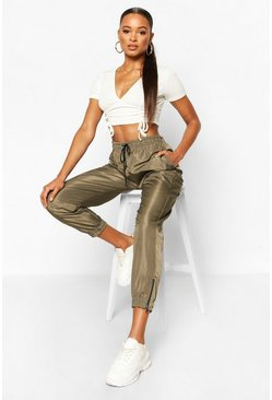 Olive Shell Suit Jogger
