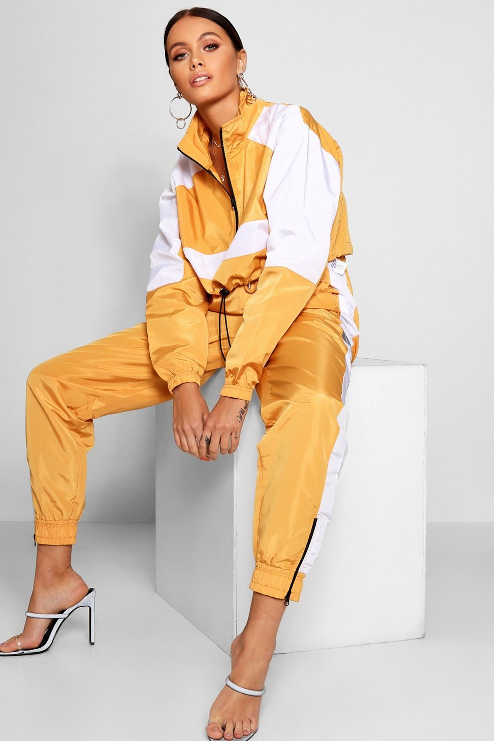 307fc4d5854b Side Stripe Shell Suit Jogger | Boohoo