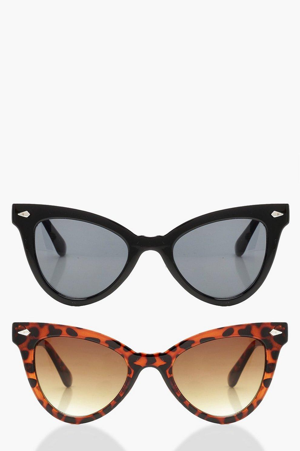 2bc1996f44f 2 Pack Classic Cat Eye Sunglasses