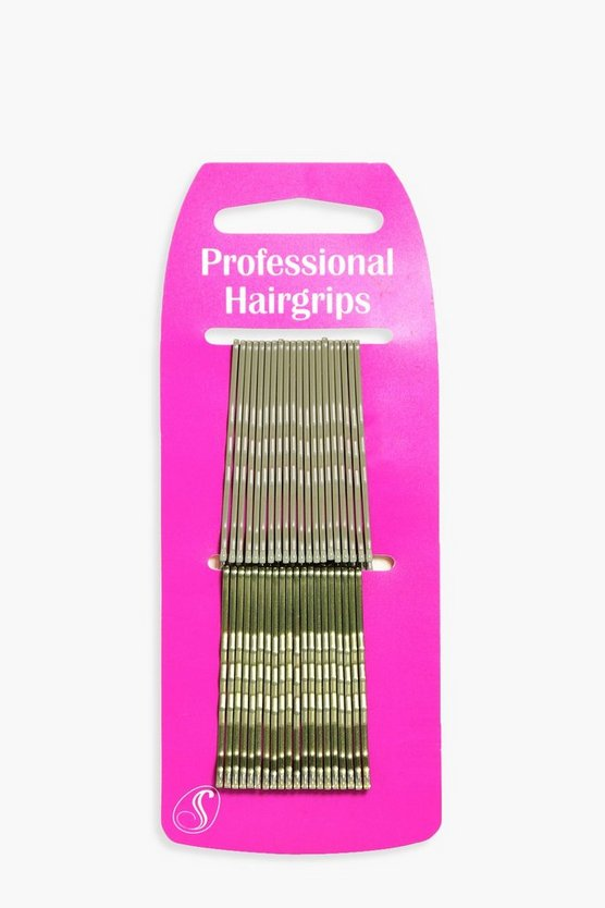 Womens Blonde Blonde Kirby Hair Grips 40 Pack