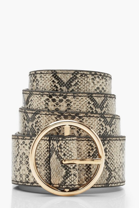 Faux Python Ring Belt Faux Python Ring Belt by Boohoo