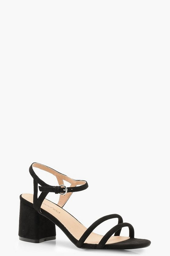 Extra Wide Fit Double Strap 2 Part Heels