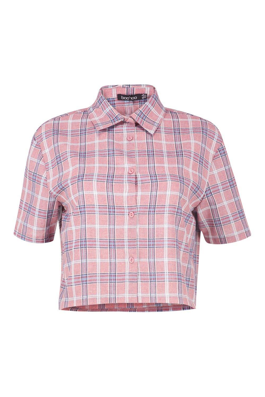 Shirt Check Shirt Check Cropped pink Cropped Cropped Cropped pink Check Shirt pink Shirt Check qIwA4I