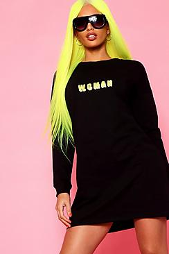 Woman Print Sweat Dress