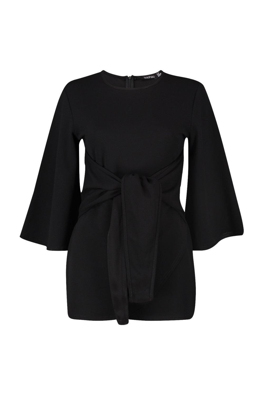 Kimono Kimono Kimono black Playsuit Wrap Over Wrap Over Wrap black Over Playsuit ExqpBw0FB