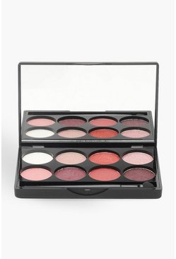 Boohoo 8 Shade Eye Shadow Palette - Pinks, Pink, FEMMES