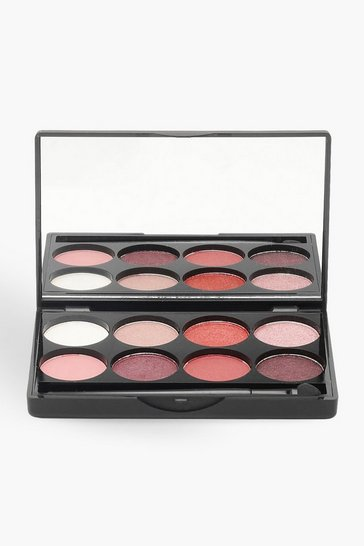 Womens Pink Boohoo 8 Shade Eye Shadow Palette - Pinks