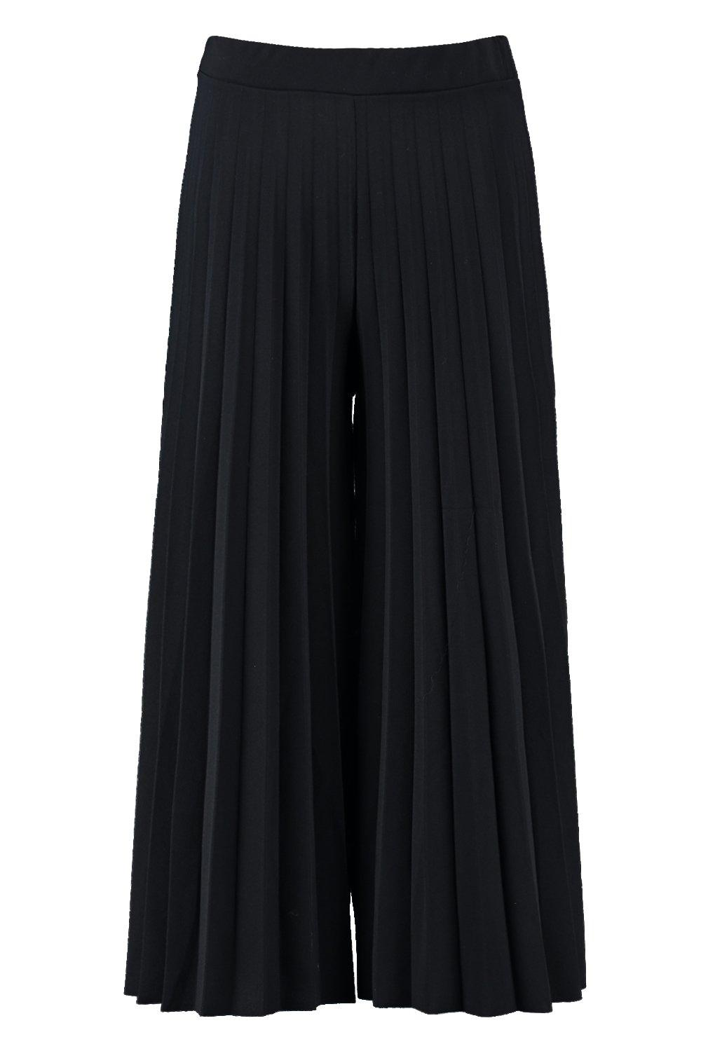 Trouser Culotte Pleated black Trouser black black Culotte Pleated Trouser Pleated Culotte q18zwT