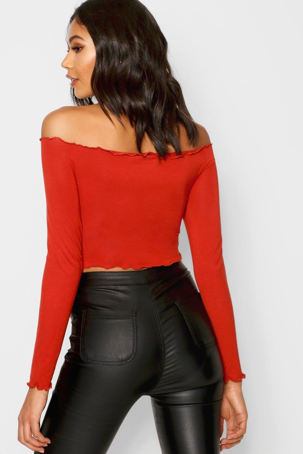 Top Hem Lettuce Front black Ruched Jersey wUqIBSzB