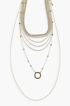 Ring Layered Plain Necklace